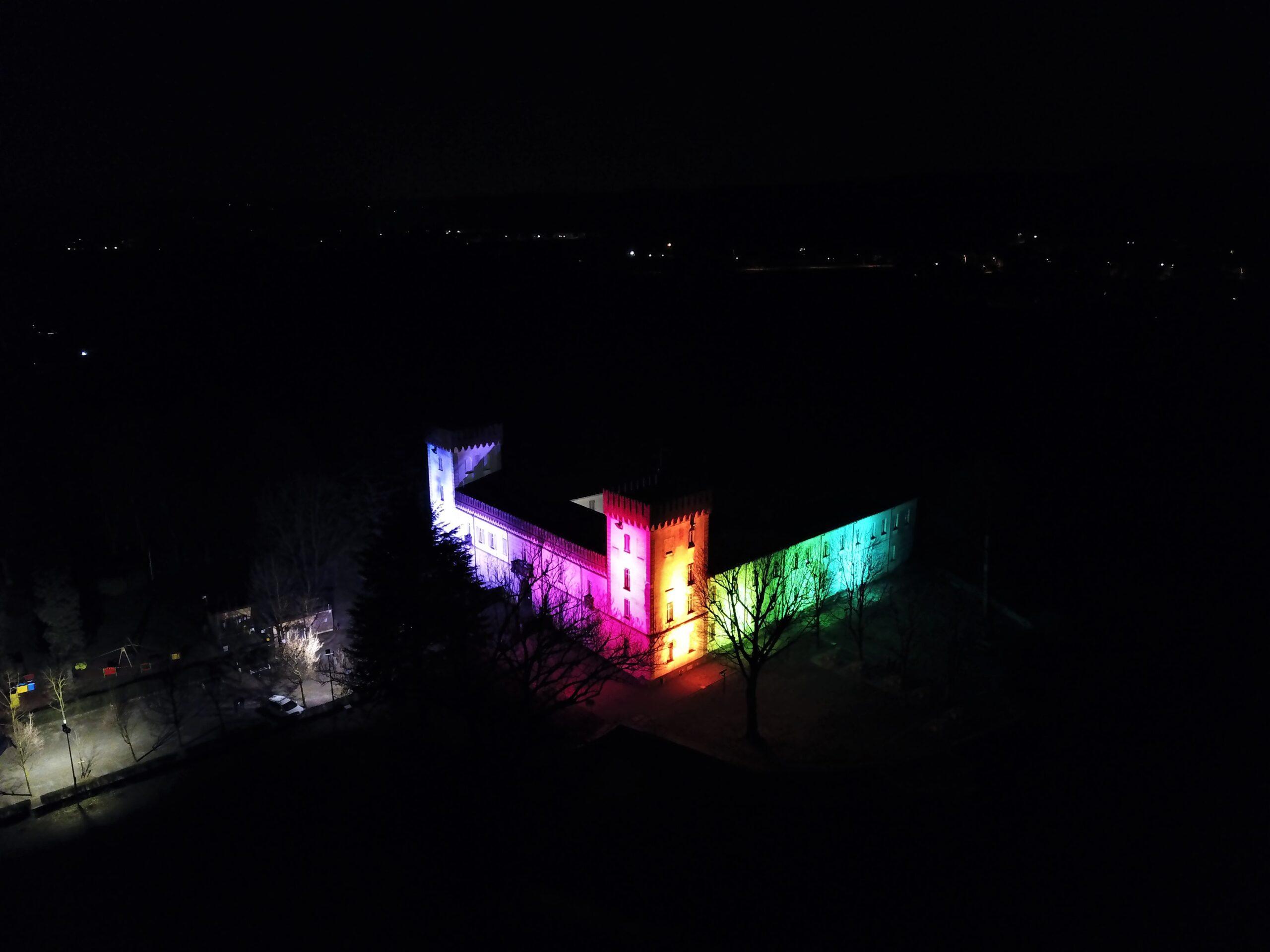floodlight rainbow